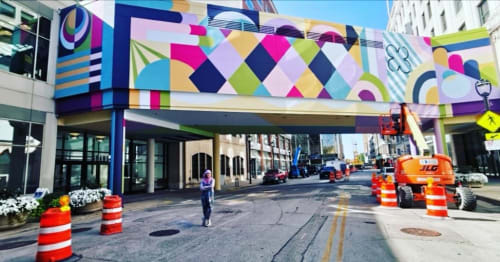 """Street Murals by Jaime J. Brown seen at The Avenue MKE, Milwaukee - """"Kindred"""" Mural"""