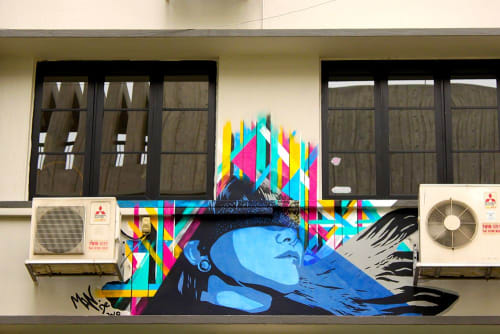 Street Murals by Mandy Schöne-Salter seen at Singapore - Grey Projects Gallery Commission