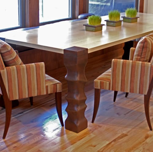 Tables by Andi-Le seen at Private Residence, Aspen, Aspen - Dining Room Table