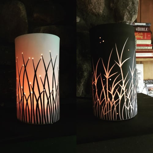 Lighting by Tabbatha Henry Designs seen at Private Residence, Marshfield - Tall Grass and Firefly Luminaries