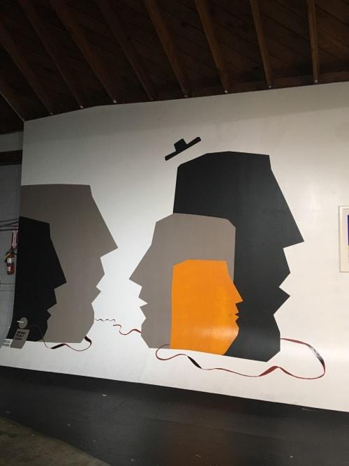 Murals by MrBlack seen at Oakland, Oakland - Art show Mural