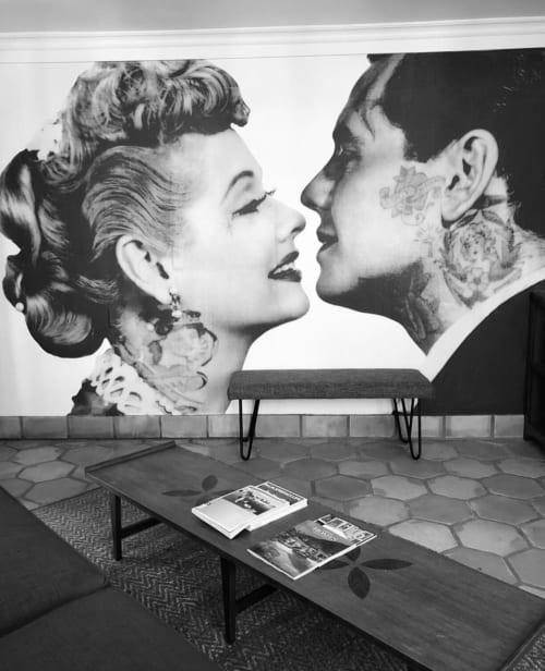 Murals by Cheyenne Randall aka INDIANGIVER seen at Villa Royale, Palm Springs - Lucy & Desi
