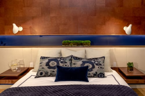 Interior Design by Marie Burgos Design at Private Residence - Bachelor Loft Tribeca, New York - New York Bachelor Loft Master Bedroom