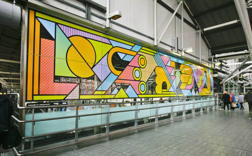 Murals by Supermundane | Rob Lowe seen at Leeds Train Station, Leeds - Super Leeds