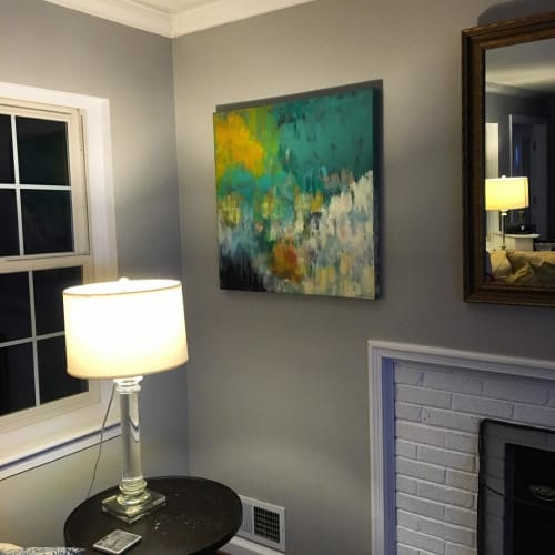 "Paintings by Courtney Kolker seen at Private Residence - ""Billabong"" Painting"