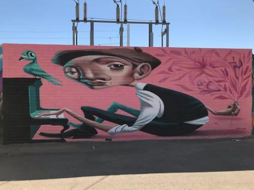 Murals by Tato Caraveo seen at The Churchill, Phoenix - Mural