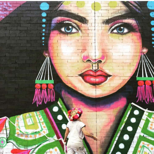 Murals by Mimby Jones Robinson seen at Beulah Park, Beulah Park - Queen Nijola Mural