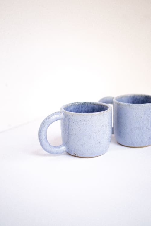 Cups by Oema Ceramics seen at Private Residence, Barcelona - Mug — Blue Bath Bomb