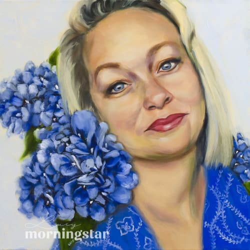 Paintings by Lucy Morningstar seen at Private Residence, Sydney - Private Portrait Commission