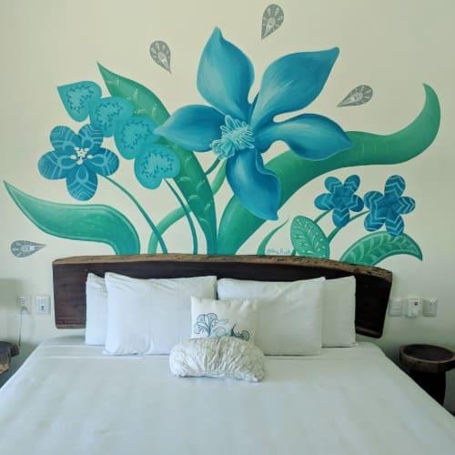 Murals by Amy Frueh seen at La Palmita, Tulum - Indoor Mural