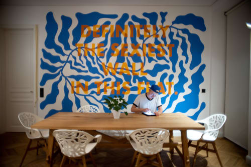 Murals by Luca Laurence seen at Private Residence, Vienna - The sexiest wall