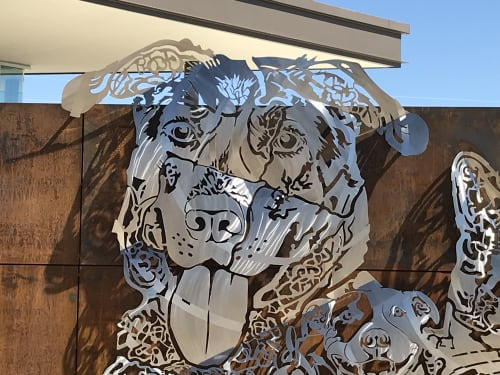 Sculptures by Stoller Studio, Inc. seen at Pima Animal Care Center (Animal Shelter), Tucson - Kindred Spirits