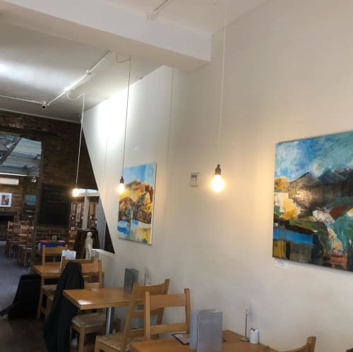 Paintings by Gail Altschuler seen at Boulangerie Bon Matin, London - Painting