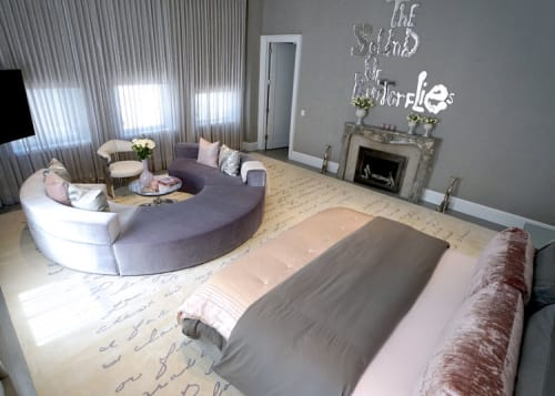 Rugs by Lucy Tupu Studio seen at Private Residence, New York - Financial District-Master Bedroom