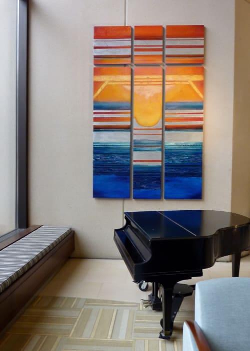 Paintings by Helene Steene seen at UK Markey Cancer Center, Lexington - Shimmer at the Edge