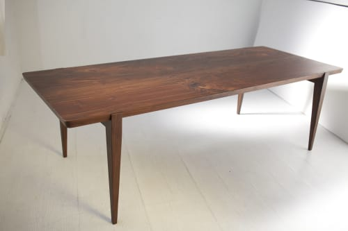 "Tables by Studio Moe seen at Creator's Studio, Portland - 96"" Oslo Dining Table in Oregon Walnut"