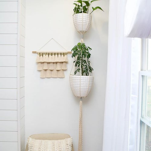 Macrame Wall Hanging by A Modern Take Fiber Art seen at Private Residence, West Jordan - Tasseled Wall Hanging