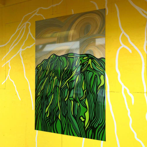 Paintings by Ran Noveck seen at Kaka'ako, Honolulu - Ke kilohana