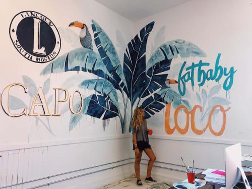 Murals by Charly Malpass Art seen at Capo Restaurant & Supper Club, Boston - Office Jungle