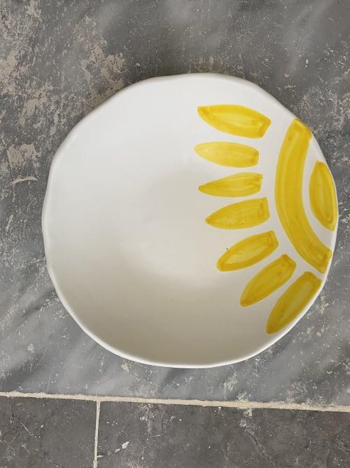 Ceramic Plates by Patrizia Italiano seen at Creator's Studio - Soup plate the Sun set 6 pieces