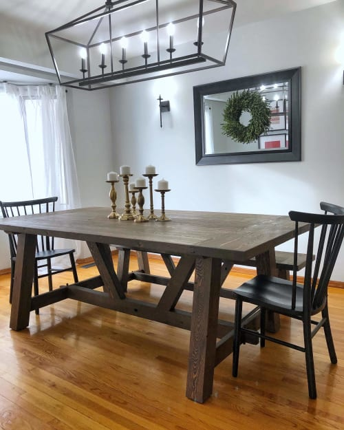 Farmhouse Table By Vbs Furniture Seen At Private Residence Winnipeg Wescover