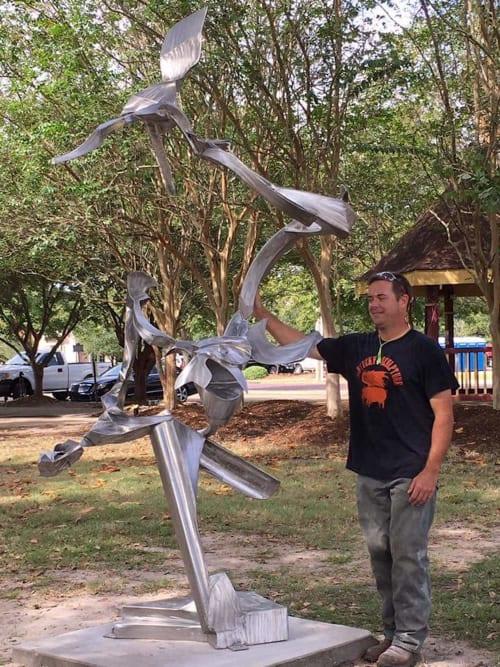 Public Sculptures by Clifton Cox seen at Hattiesburg, Hattiesburg - Boundless Voyage