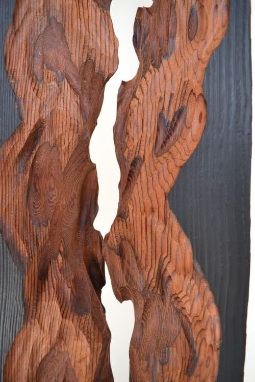 Sculptures by Lutz Hornischer - Sculptures & Wood Art seen at Private Residence, Berkeley - Modern Wood Sculpture