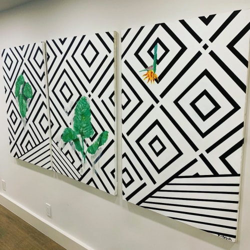 Paintings by Grant McGrath seen at Private Residence, San Francisco - Tropic of Tile 2018