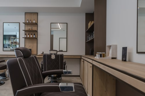 Chairs by Maletti seen at Nelson Hair Team, Destelbergen - Chairs