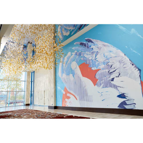 "Murals by Michael Owen seen at Live! Casino & Hotel, Hanover - ""Uplift"" Mural"