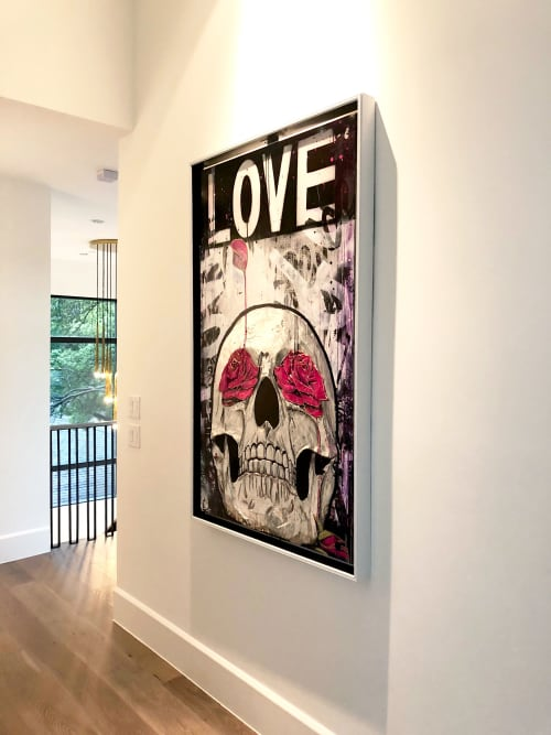 Paintings by Nickhartist seen at Private Residence, Dallas - Dia De Los Muertos