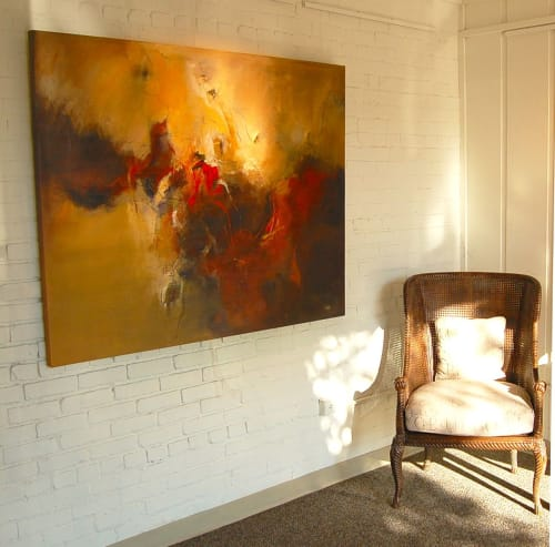 "Paintings by Christina Doelling, Abstract Artist seen at Private Residence, Birmingham - ""Lust"" 