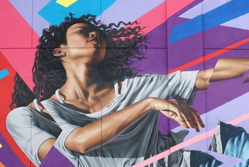 Murals by James Bullough seen at Regal Majestic & IMAX, Silver Spring - Wall Mural