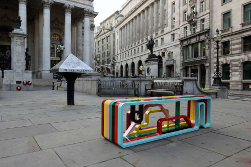 Benches & Ottomans by Porter + Trundle seen at The Royal Exchange, London - Correlated Journeys