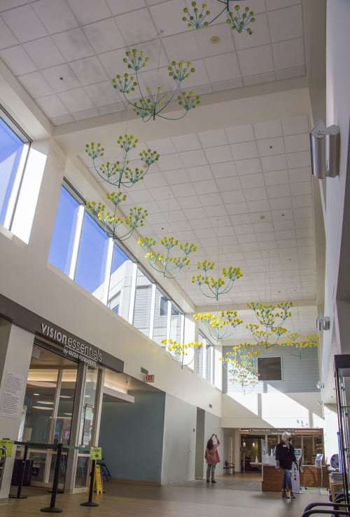 Sculptures by Kana Tanaka seen at Kaiser Permanente Union City Medical Offices, Union City - Flower Trail, 2020 (Suspended Sculpture)
