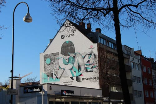 Street Murals by Semor the mad one seen at Cologne, Cologne - Facade design VypePebble