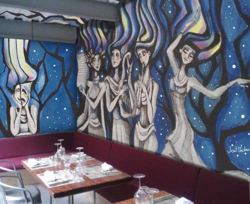 Murals by Joset Medina seen at Caliope, Panamá - Las Musas de las Artes