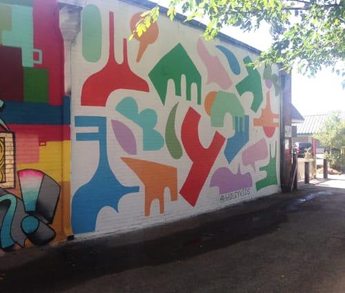 Street Murals by Holey Kids seen at Plaza Walls, Oklahoma City - Plaza Walls 2019