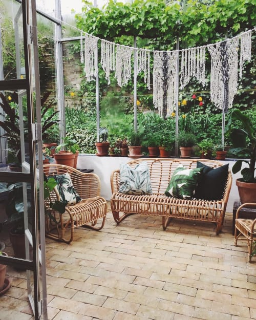 Macrame Wall Hanging by Modern Macramé by Emily Katz seen at Private Residence, Copenhagen - Macrame Installation