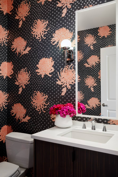 Wallpaper by Relativity Textiles at Private Residence, Chicago - Kanoko Slate