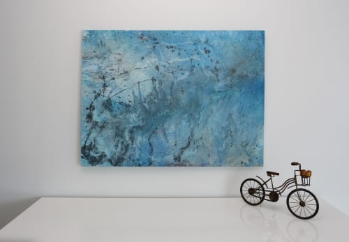 Paintings by BySelda seen at Loews Miami Beach Hotel, Miami Beach - Who Wants to Live Forefer