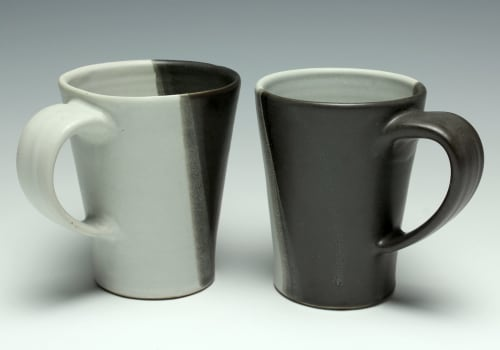 Cups by Dowd House Studios seen at Healthy Being Café & Juicery, Jackson - Black & White Tapered Coffee Mug