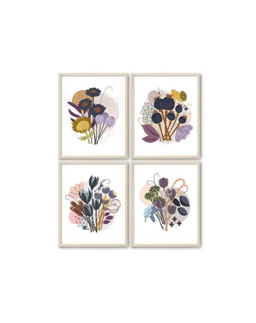 Paintings by Birdsong Prints - Set of 4 Botanical Print