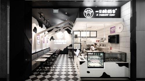 Interior Design by Studio Hiyaku seen at A Yogurt Cow, Rhodes branch, Rhodes - A Yogurt Cow Rhodes