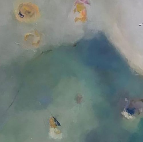 Paintings by Cecilia Arrospide seen at Private Residence, Lima - EN EL LAGO