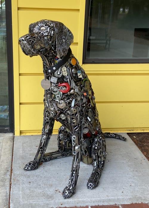 Sculptures by Brian Mock seen at Community Senior Center, Hillsboro - Scrappy