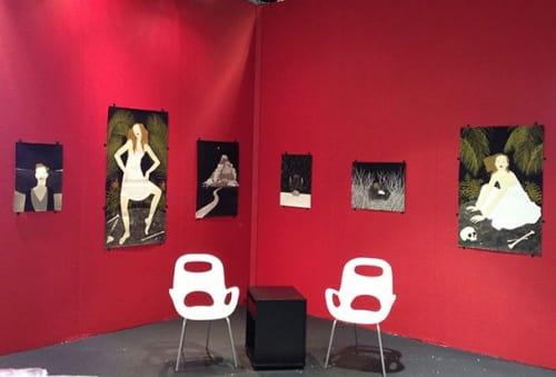 Paintings by Marci Washington seen at Rena Bransten Gallery, San Francisco - Paintings Installed