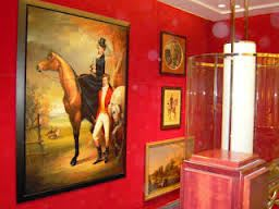Paintings by THIERRY BRUET seen at Four Seasons Hotel London at Park Lane, London - CHASSE A COUR & RECOLTE DE THE