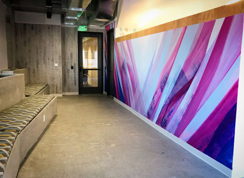 Murals by Mike Bam Tyau at Google Office - Rincon 2 Building, San Francisco - Your Life Journey