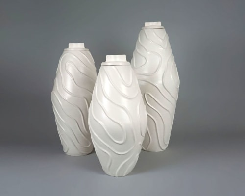 Vases & Vessels by Ron Dier Design seen at Philharmonic House of Design in Ritz cove, Orange County, California, Dana Point - Tidal Vase